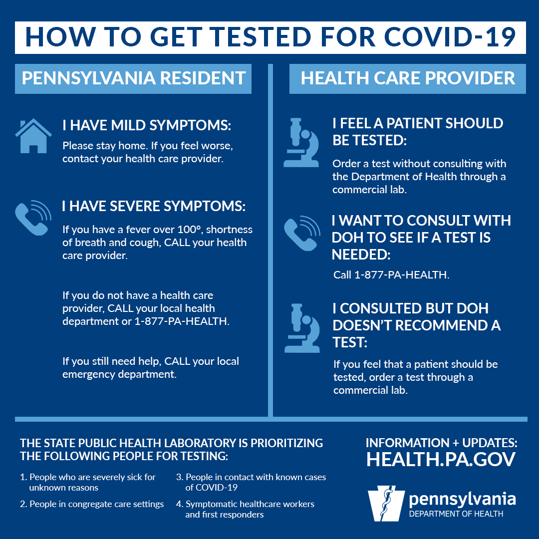 How to get tested for COVID-19