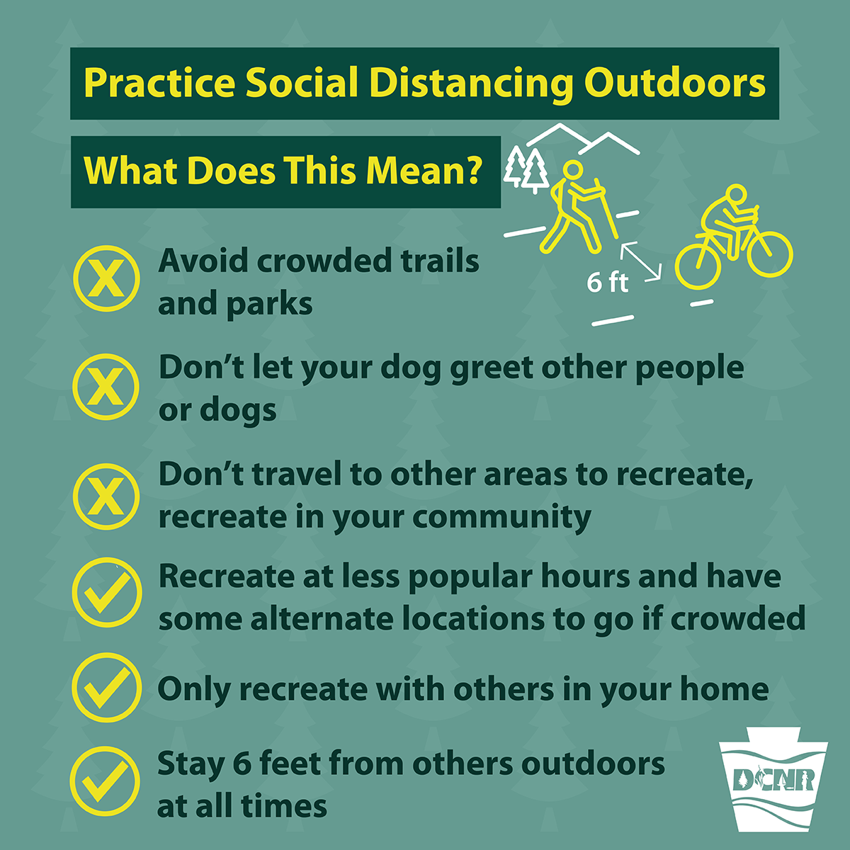 Practice Social Distancing Outdoors