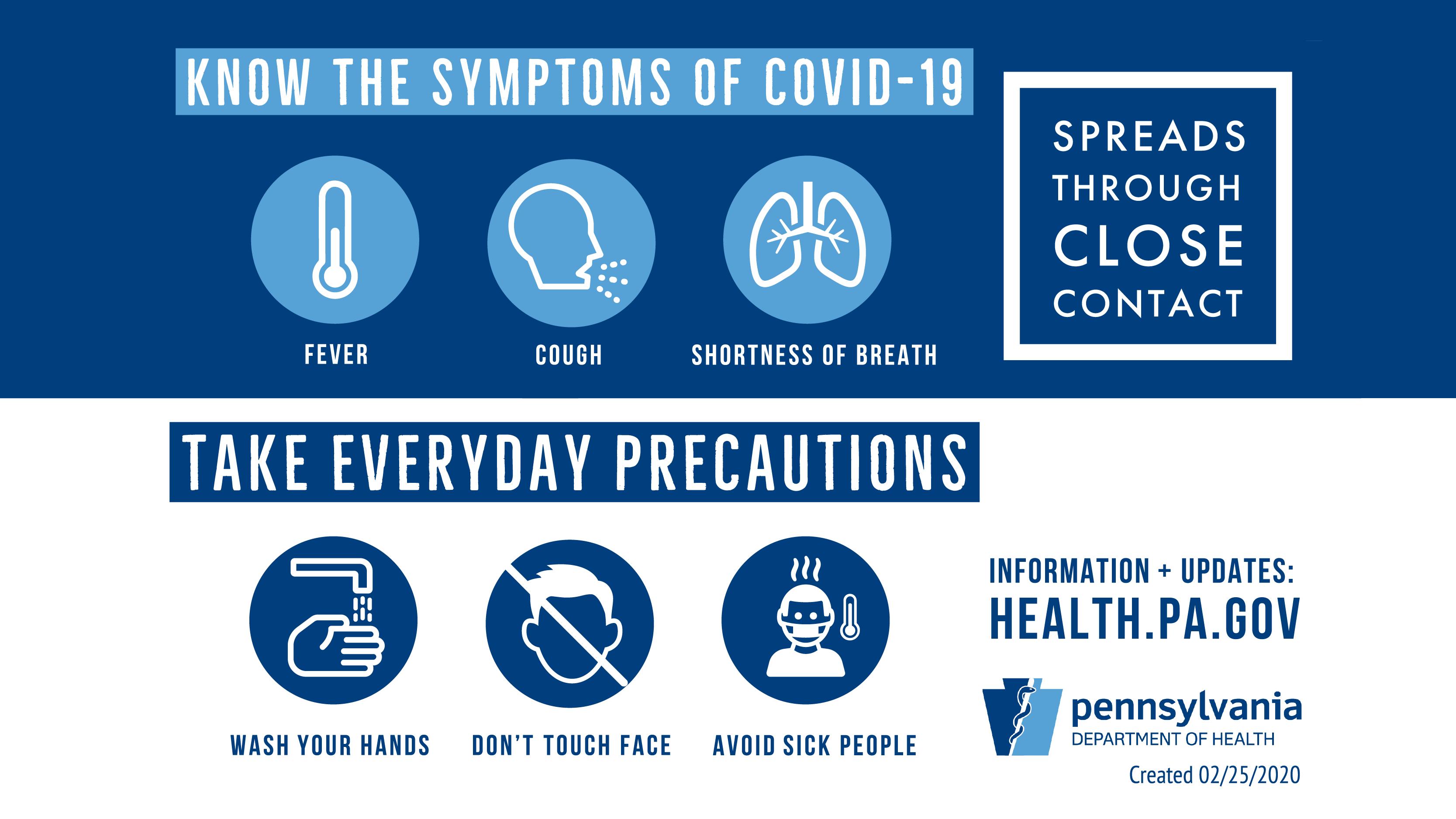 Coronavirus - symptoms and precautions - Twitter